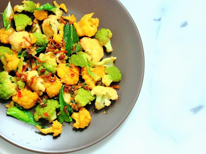 Stir-fried cauliflower with XO sauce
